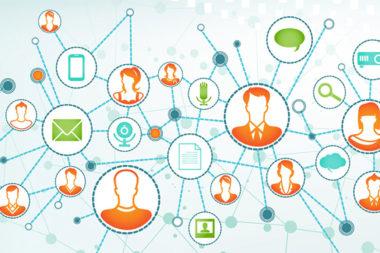 Ilustração de pessoas conectadas representando o que é networking